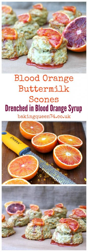 Blood Orange Buttermilk Scones