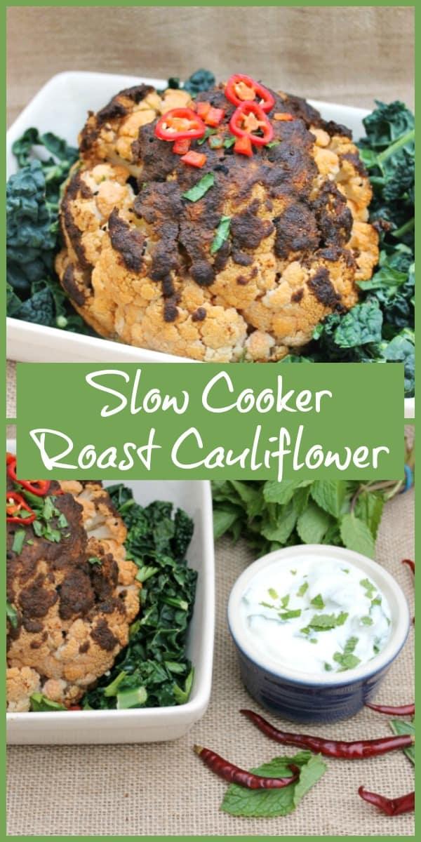 Slow cooker roast cauliflower