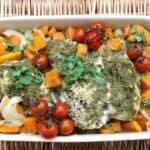 Slow Cooker Pesto and Sweet Potato Chicken