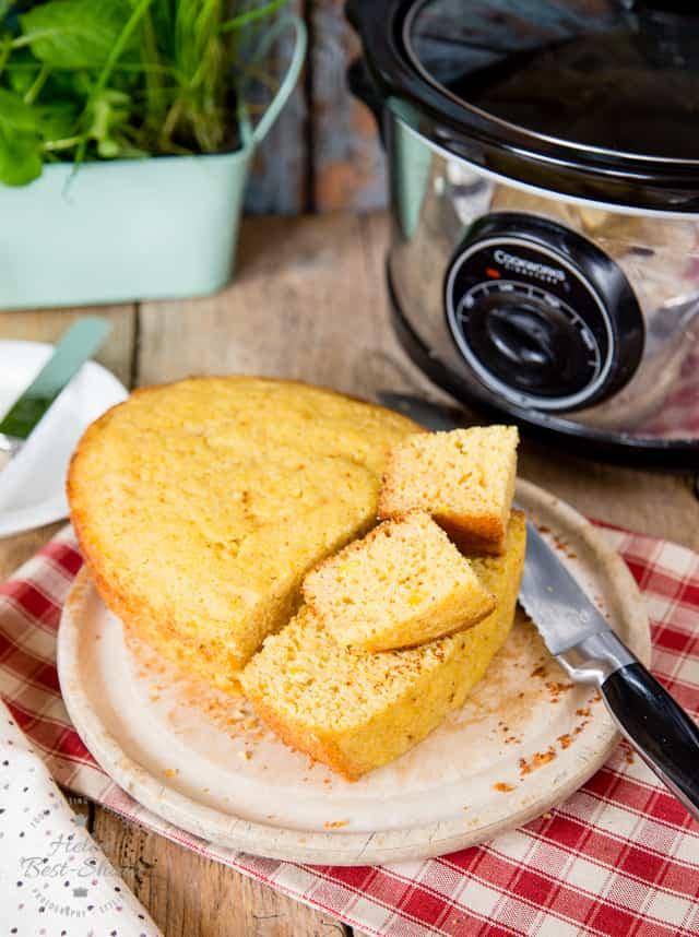 Slow cooker cornbread - Fuss Free Flavours