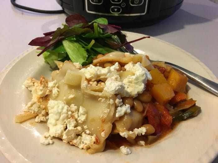 Slow cooker vegetable lasagne by Mummy Mishaps