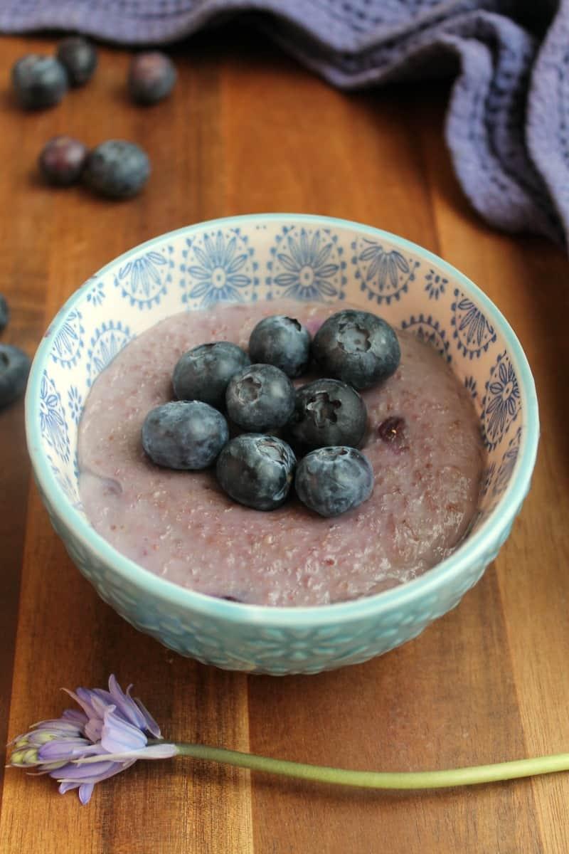 Slow Cooker Blueberry Porridge
