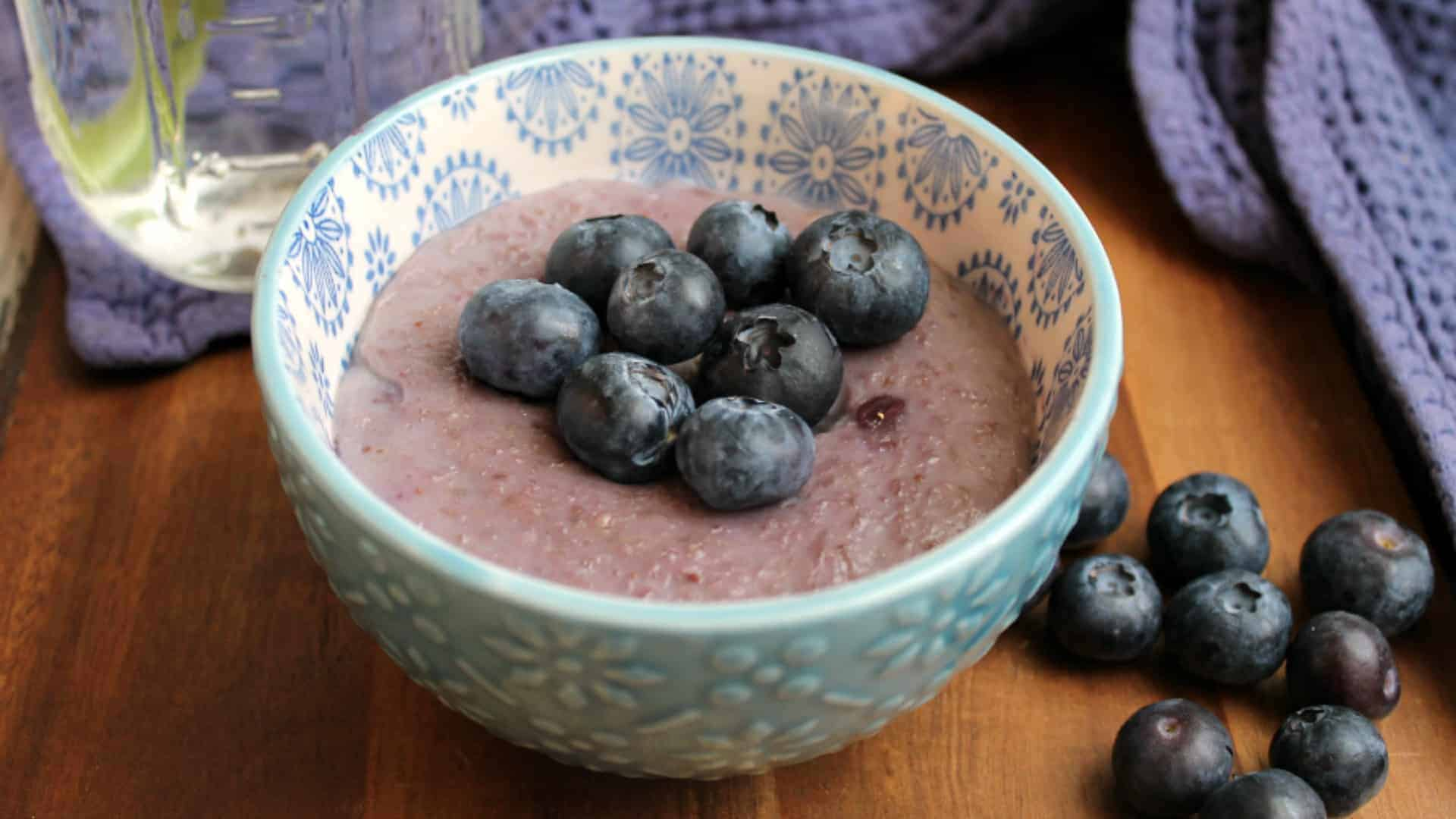 Slow Cooker Blueberry Porridge