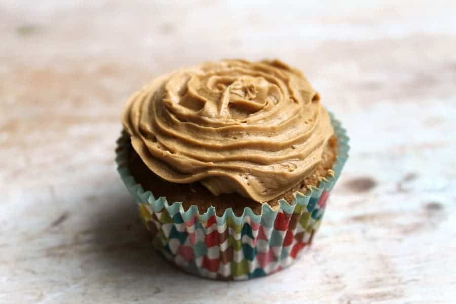 Rich coffee cupcakes with coffee icing