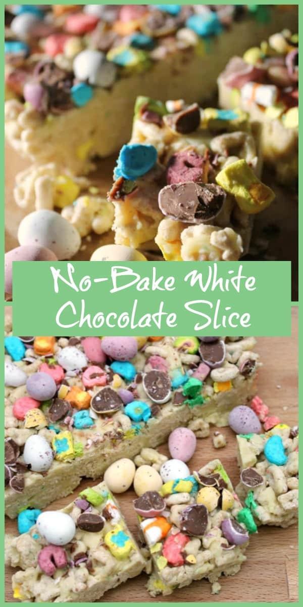 No-Bake White Chocolate Slice