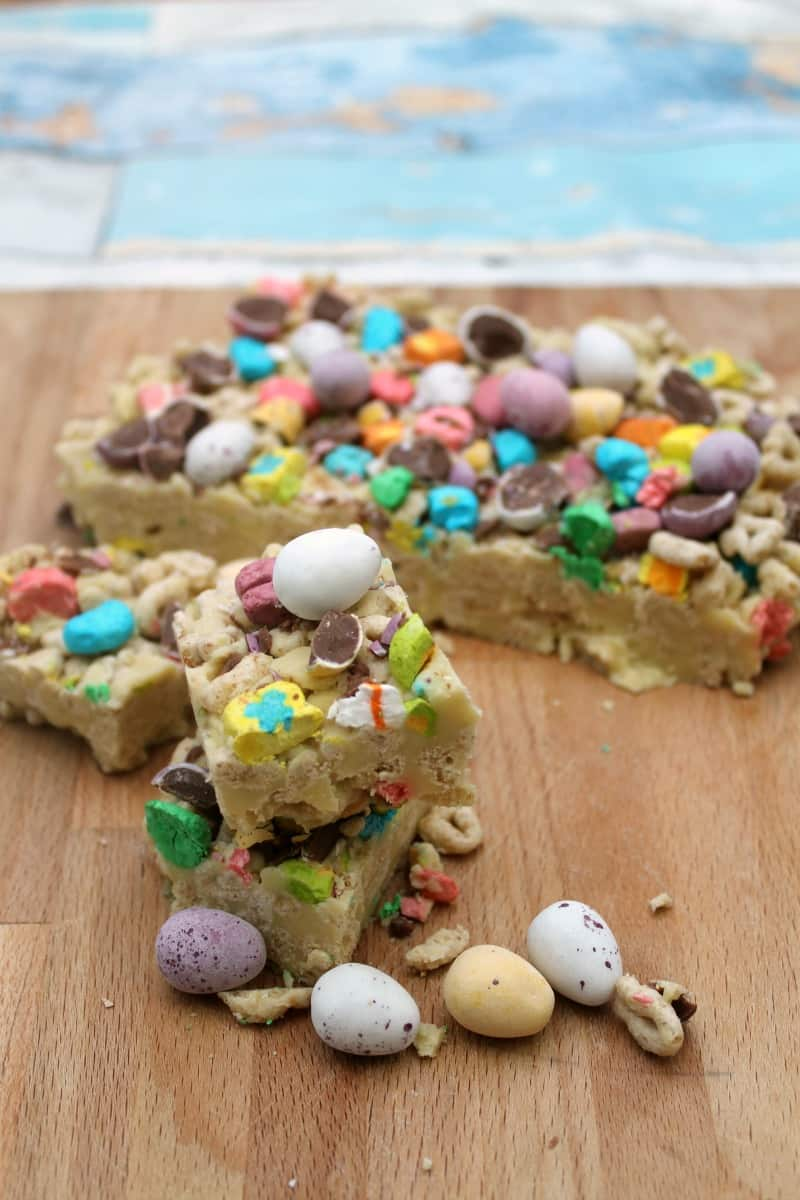 No-Bake Unicorn Mini Egg White Chocolate Slice