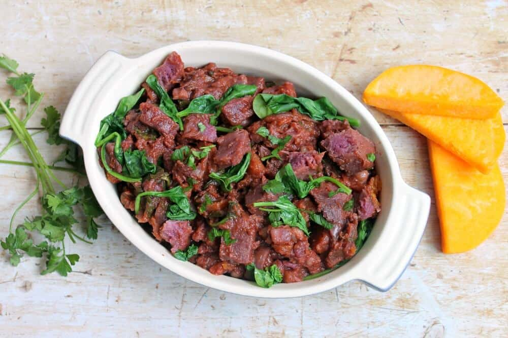 Slow Cooker Purple Sweet Potato and Chickpea Stew