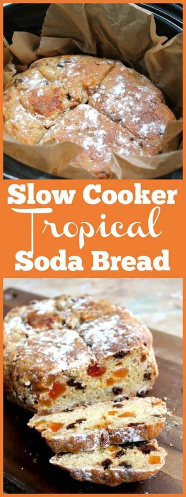 Slow cooker tropical soda bread
