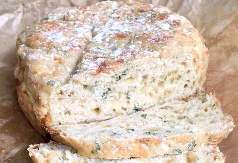 Slow Cooker Mozzarella and Herb Soda Bread