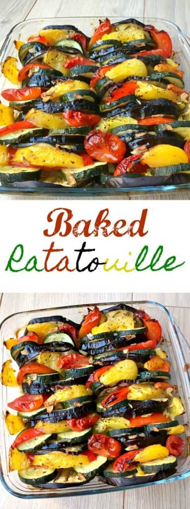 Baked ratatouille, a delicious summer dish made using fresh summer produce, typical of the South of France