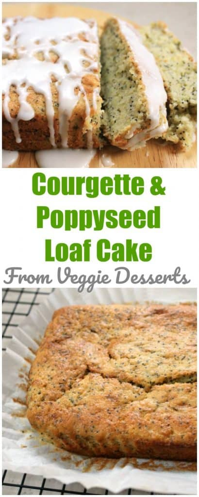 Courgette (zucchini) and poppy seed loaf cake from Veggie Desserts