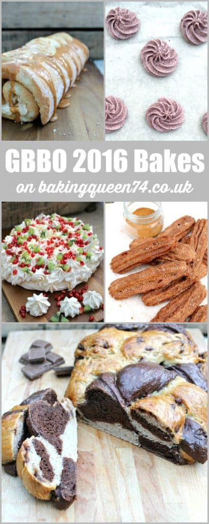 GBBO 2016 bakes on bakingqueen74.co.uk