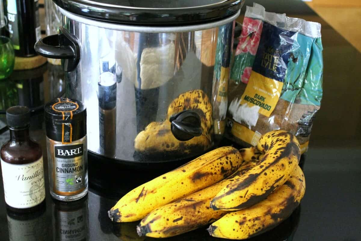 Slow Cooker Banana Butter
