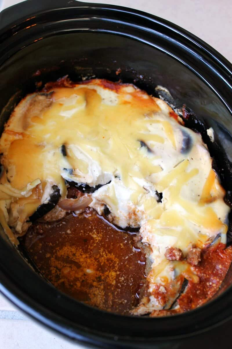 Slow Cooker Greek Lamb Moussaka
