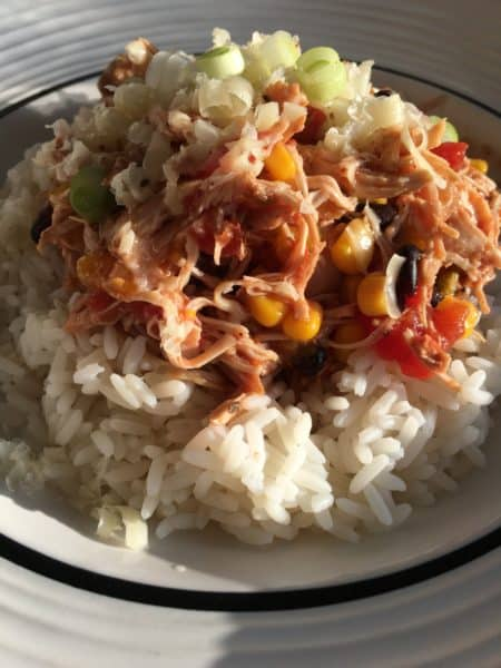 Slow Cooker Fiesta Chicken from Curly's Cooking