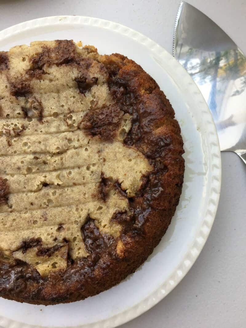 Slow Cooker Mars Bar and Banana Cake - Mummy Mishaps