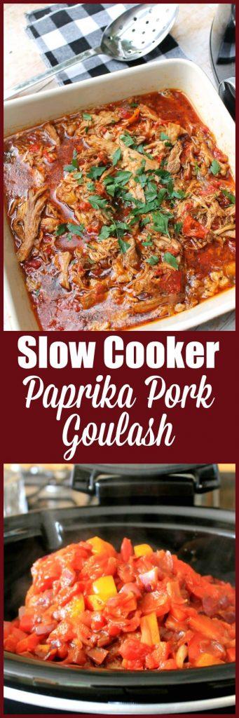 Slow cooker paprika pork goulash recipe for Crocktober