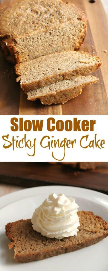 Slow cooker sticky ginger cake recipe