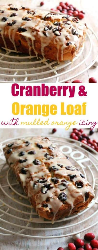 Cranberry and orange loaf cake recipe, perfect for festive baking