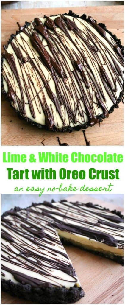Lime and White Chocolate Tart with Oreo Crust