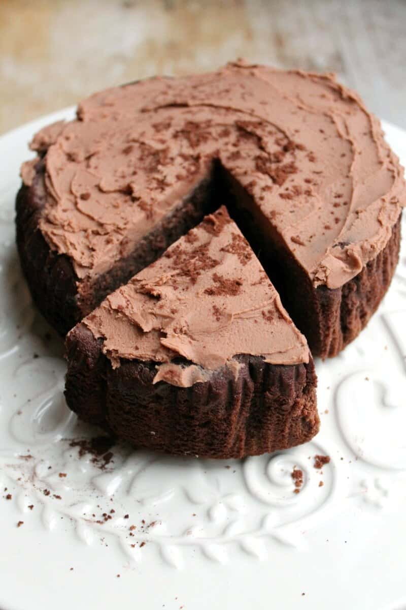 Slow Cooker Baileys Chocolate Cake is rich and fudgey and perfect for an indulgent bake over the holidays