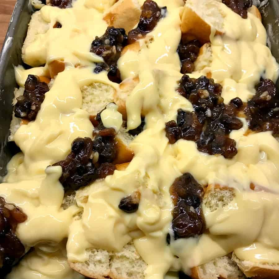 Brioche and Mincemeat Pudding