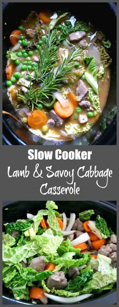 Slow cooker lamb and savoy cabbage casserole - a winter slow cooker dish that the whole family will love
