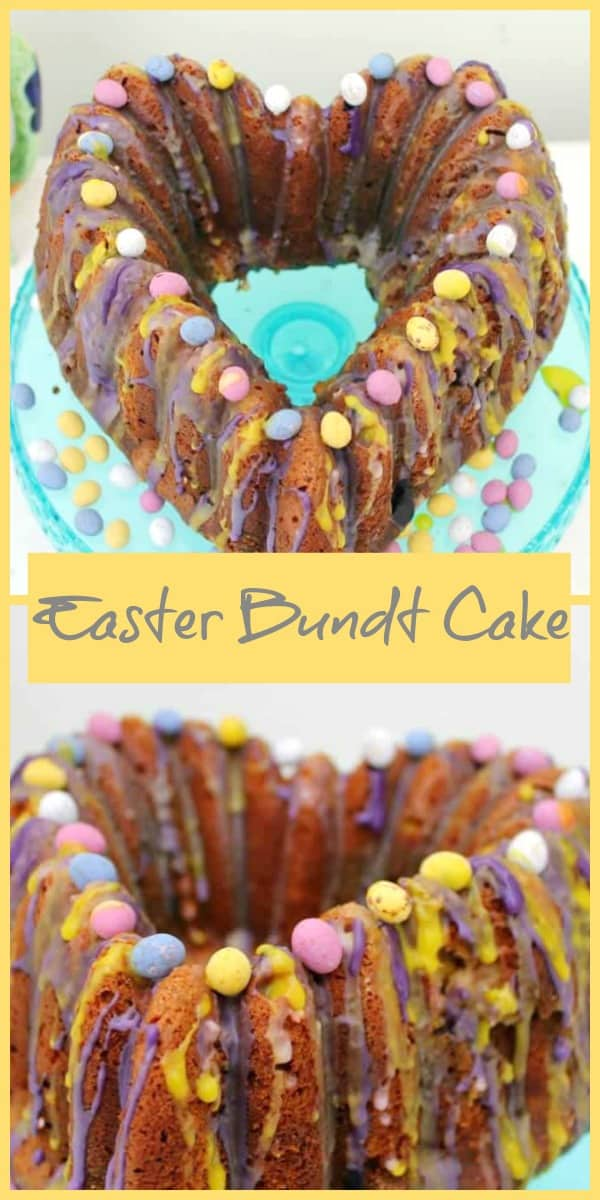 Easter Bundt Cake with Mini Eggs