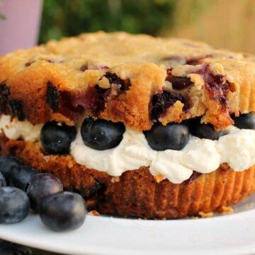 Giant Blueberry Cream Scone