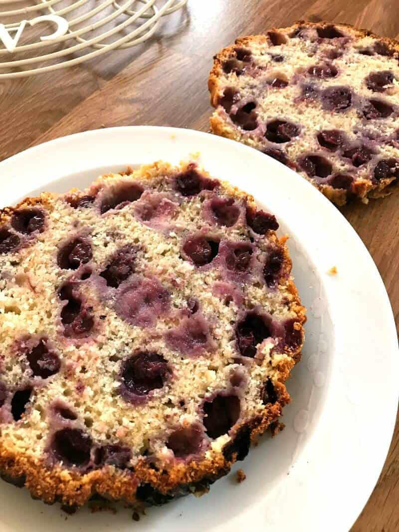 Giant Blueberry Cream Scone - split in half to fill with cream