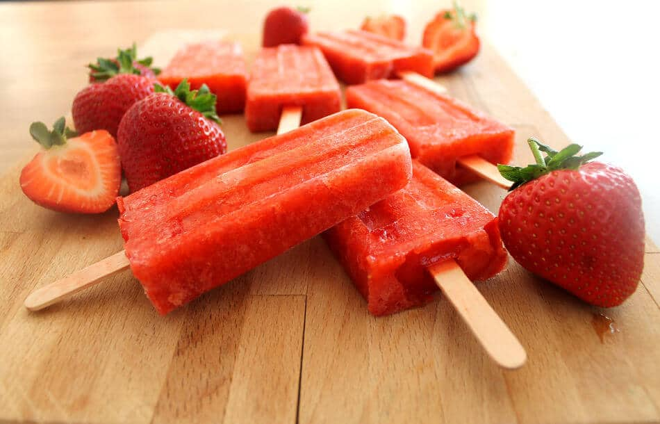 Strawberry Ice Lollies