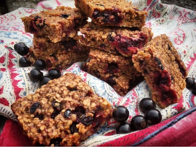 Blackcurrant Oaty Flapjacks from Foodie Quine