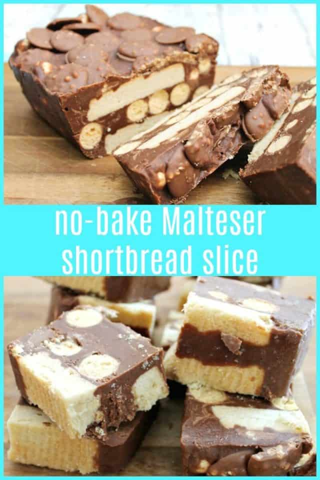 No-bake Malteser Shortbread Slice