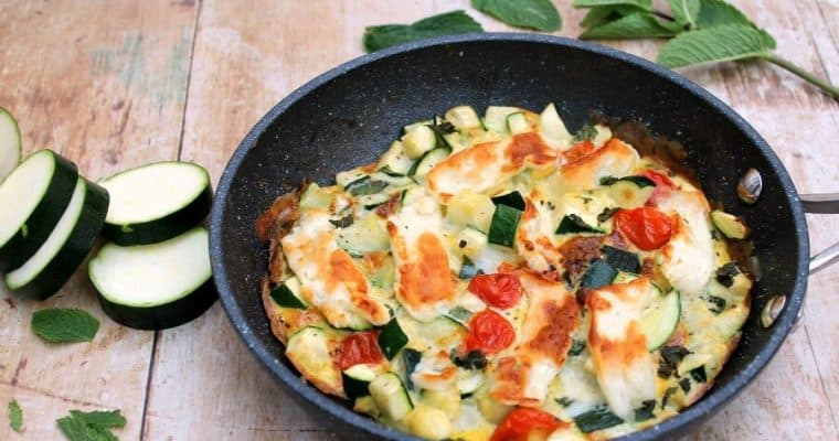 Courgette Frittata with Mint