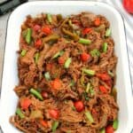 Slow Cooker Pulled Beef with Harissa