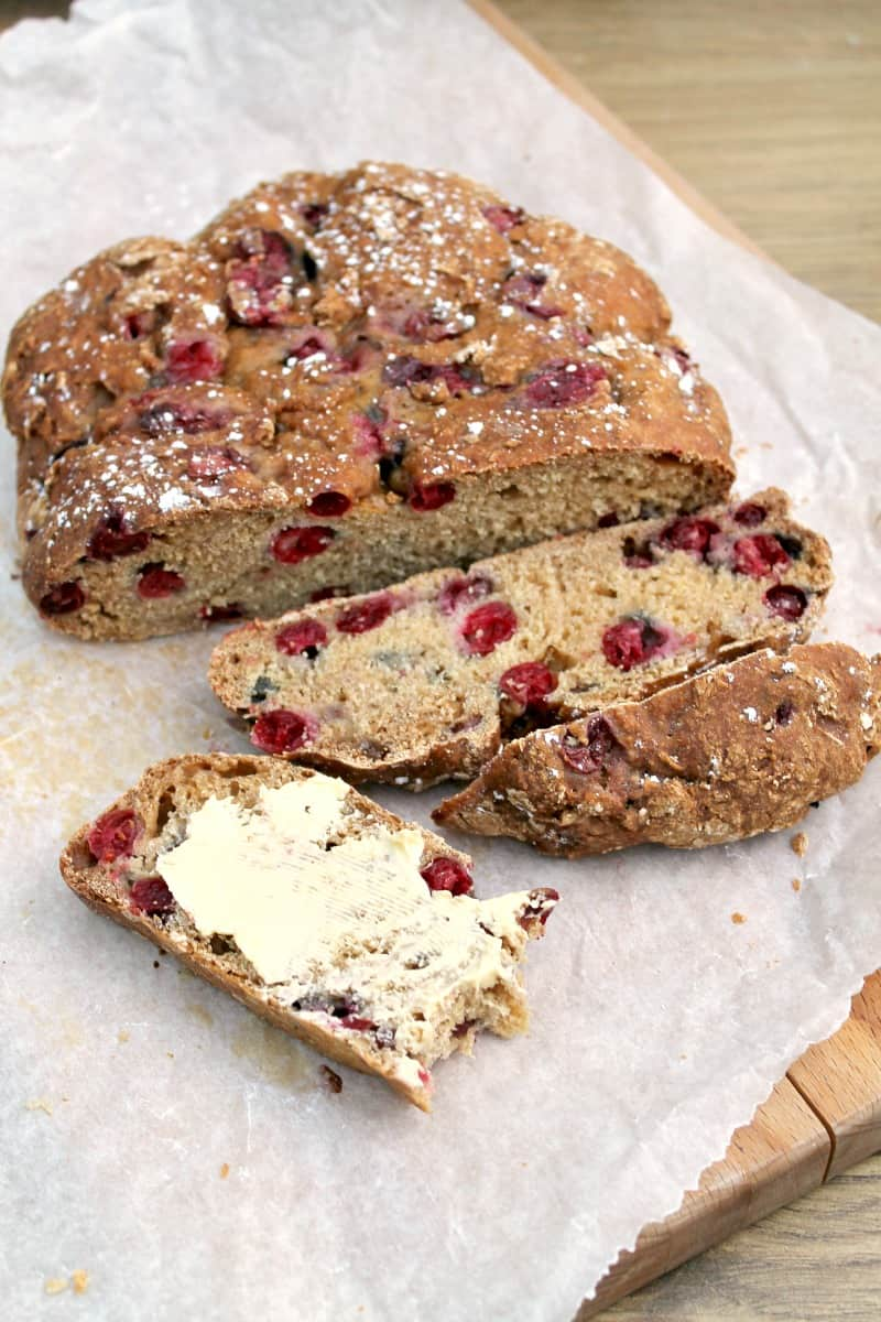 Slow Cooker Cranberry Soda bread