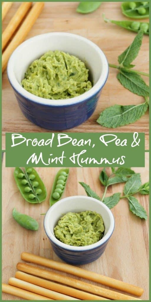 Broad Bean, Pea and Mint Hummus