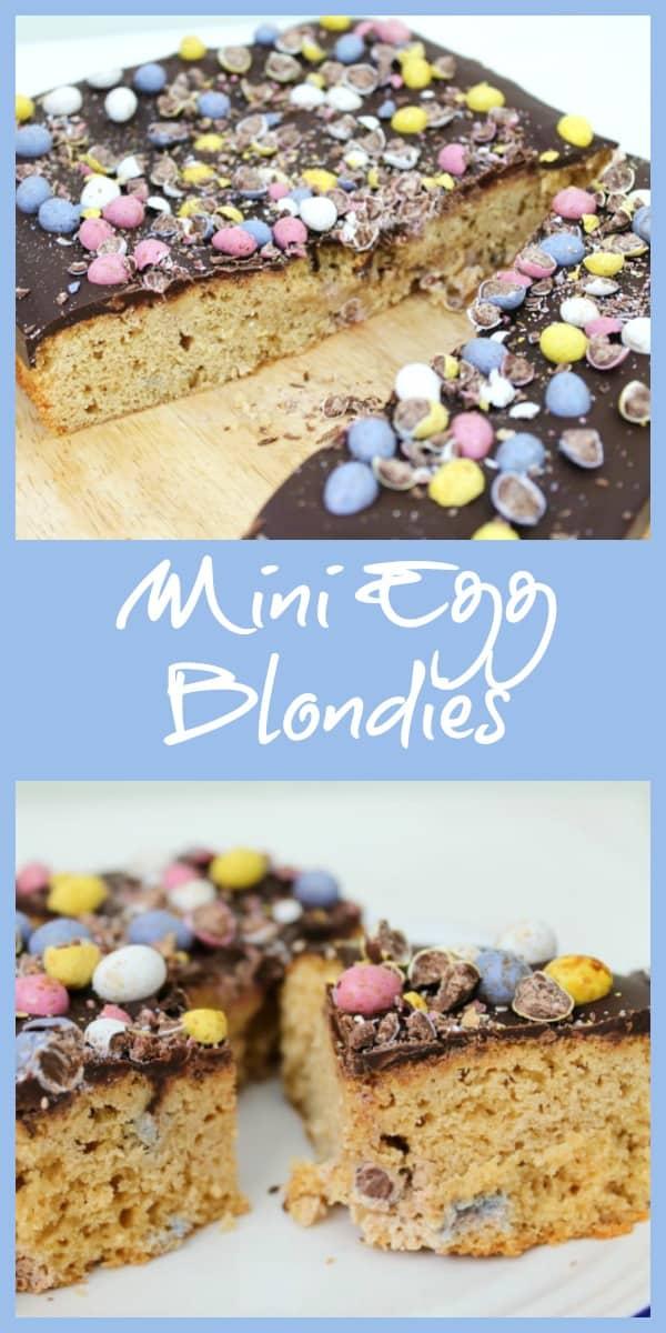 Mini Egg Blondies collage