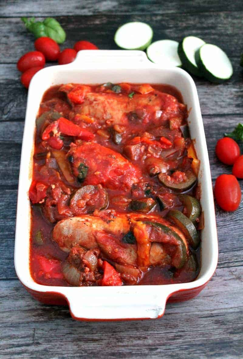 Slow Cooker Chicken Ratatouille