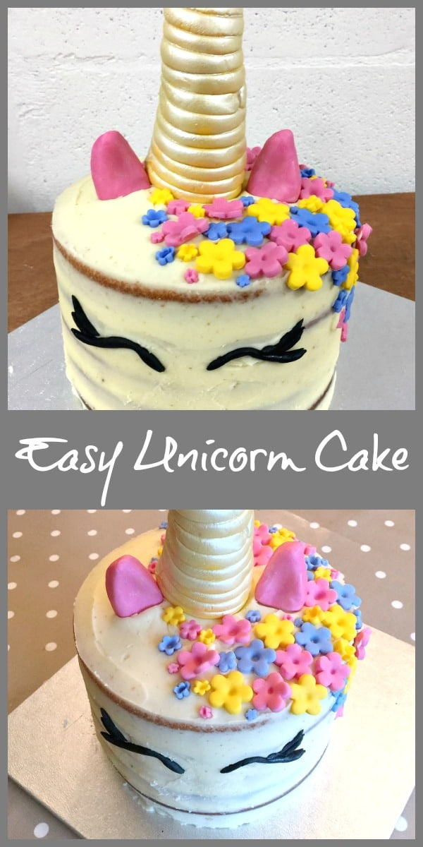Easy Unicorn Cake