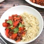 Bean chilli text photo collage.