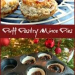 Mince pie text image collage.