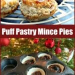 Mince pie text and image collage.