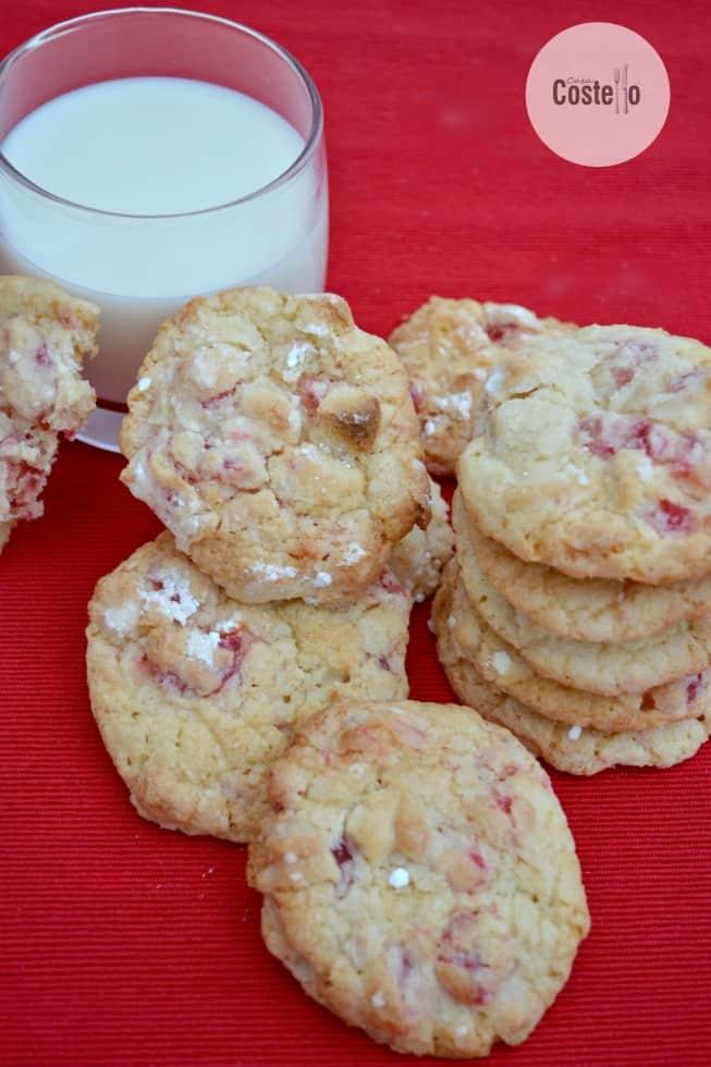 Casa Costello's cherry Bakewell cookies